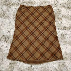 Express Brown Plaid Skirt